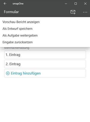 Vorschaubericht in der smapOne App
