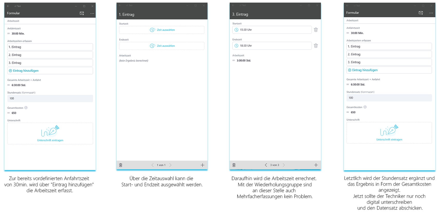 Gesamtübersicht smapOne App