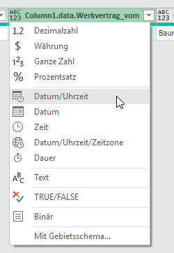 Dateitypen festlegen